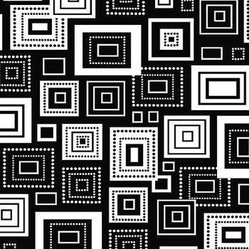 Elements Black Geometric Squares