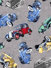Classic Cars multicolored on light gray