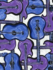 That Funky Jazz Guitars Blue and Purple