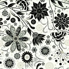 Ink Blossom Black and White flowers