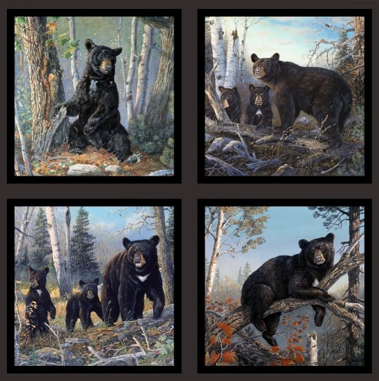 North American Wildlife Black Bear Panel