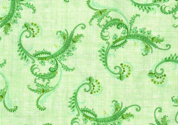 Botanica II Spring Leafy Scroll Green