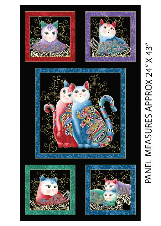 Cat-i-tude Perfect Together Cats Panel