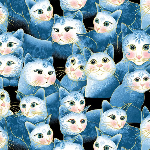 Cat i tudes Perfect Together Sweetheart Cats Blue