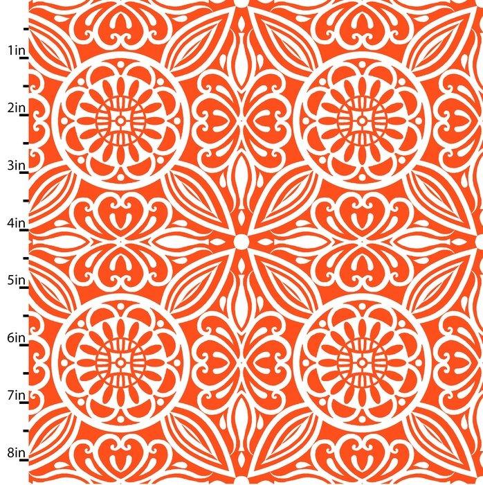 Modern Mixers  Medallions Floral Orange