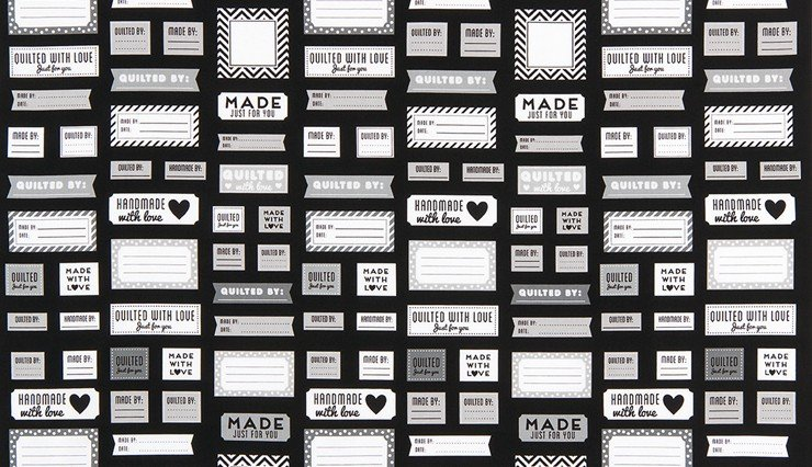 Made For You Black and White Labels