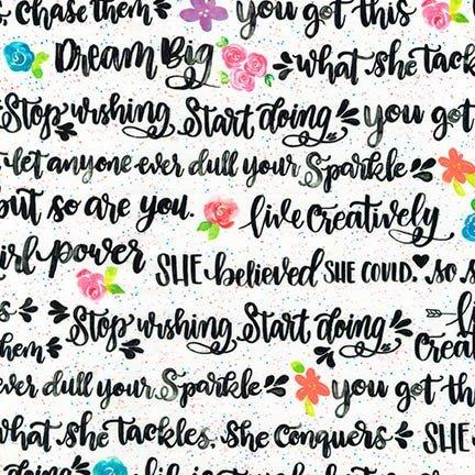 Girl Power 2 inspirational words Black