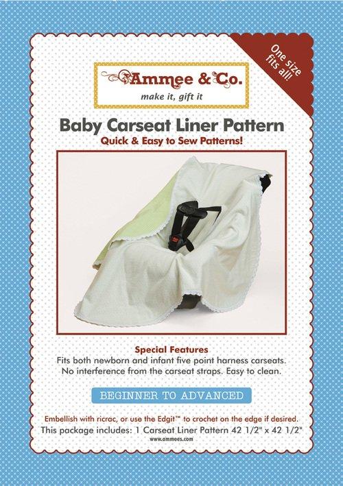 Baby Car Seat Liner Pattern