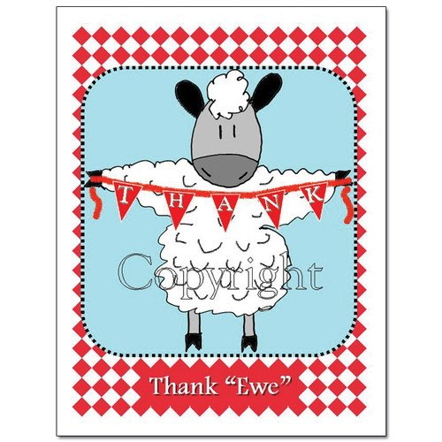 Thank Ewe Note Cards