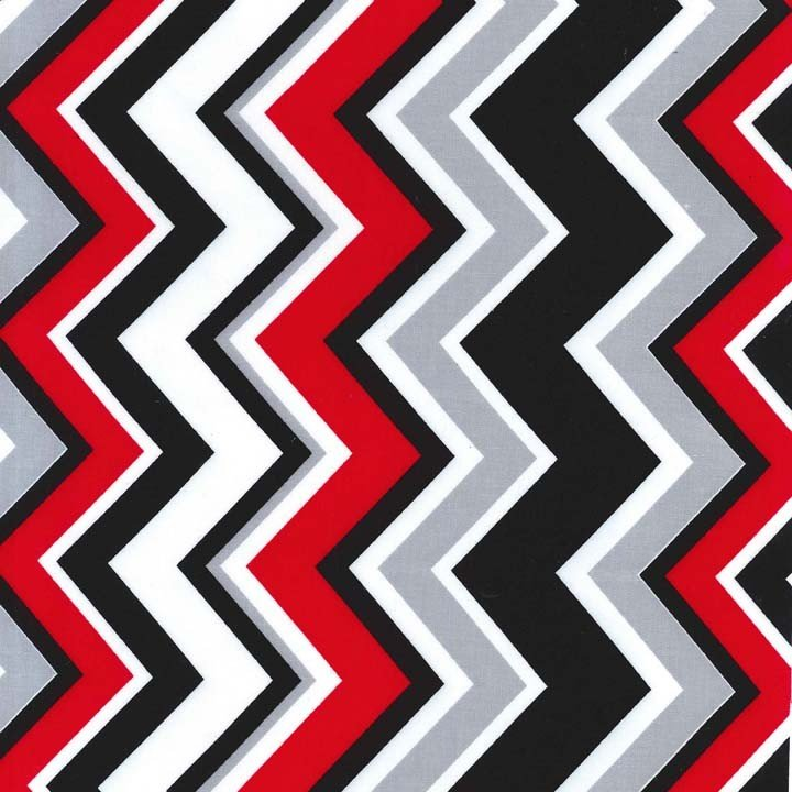Rouge Black, Grey and White Chevron