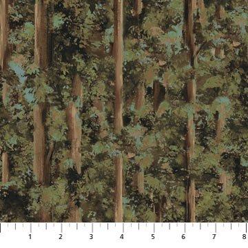 Black Bear Lodge green tree print