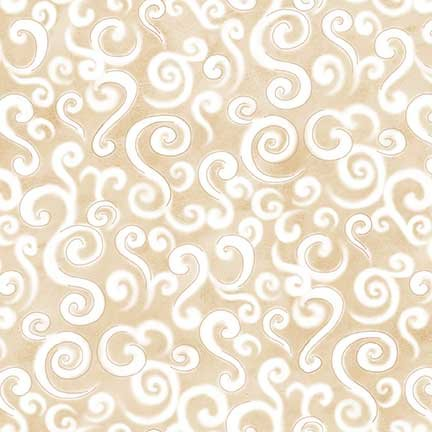 Le Petit Bistro Cream with White Swirls