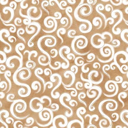 Le Petit Bistro Light Brown with White Swirls