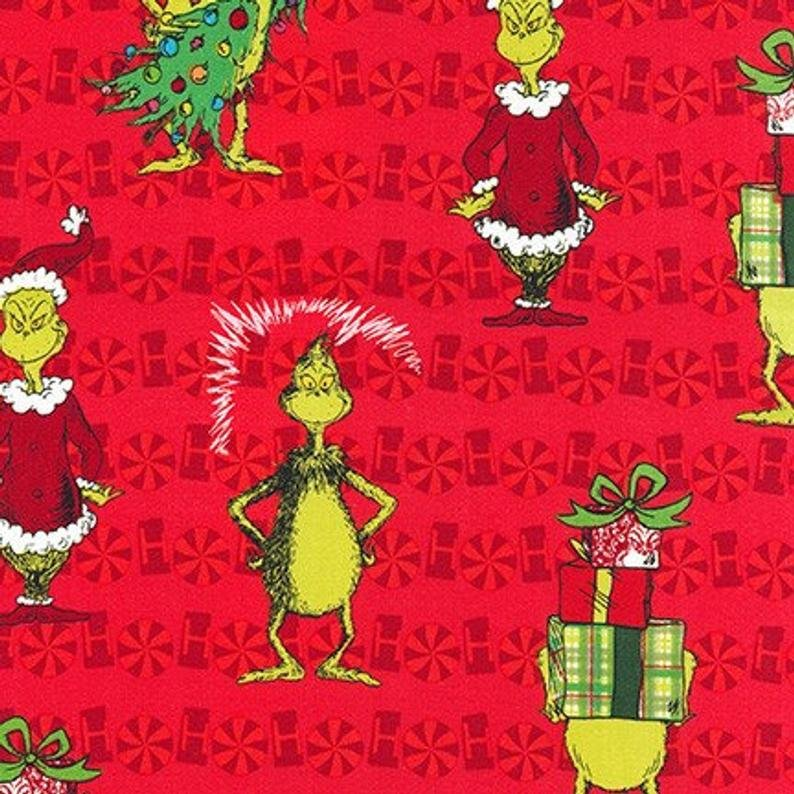 How the Grinch Stole Christmas ADE-73331-3 RED