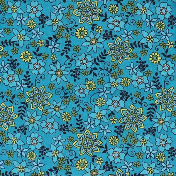 Honeybell Teal Floral Small