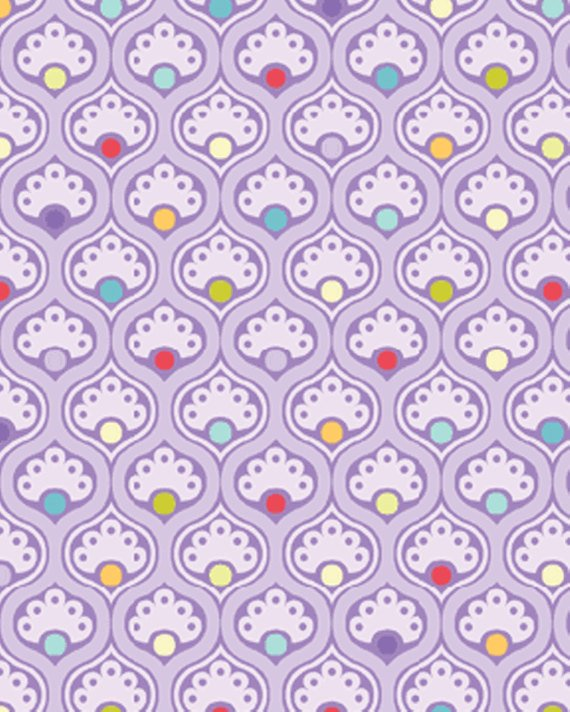 Curiosities Lilac with Dots