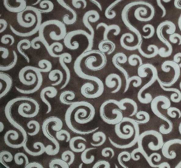 Le Petit Bistro Brown with White Swirls