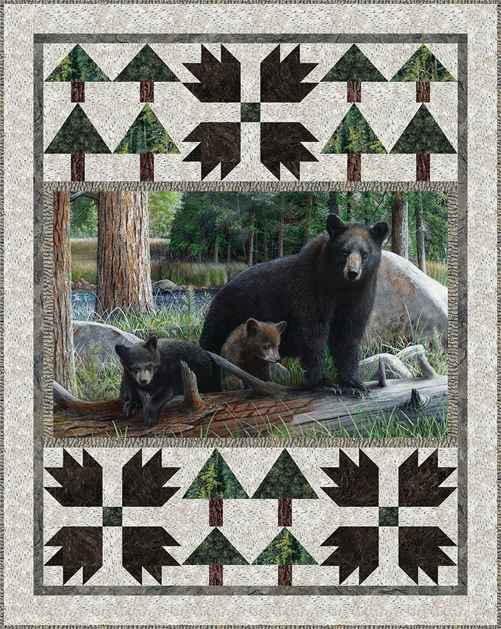 Exploring the Woods Wildlife Panel Quilt Kit
