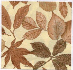 Nature's Turn Leaves on Cream by Marcus Fabrics