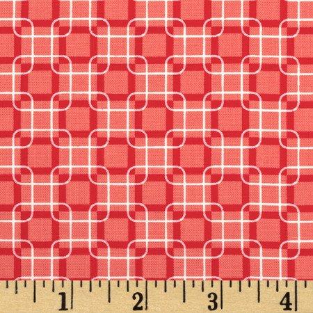 Rubies Red and White Geometric