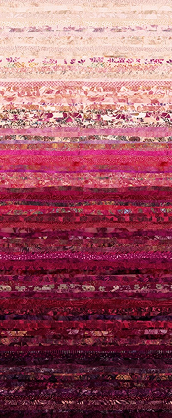 Hoffman Waves Digital Prints Strawberry S4832-175