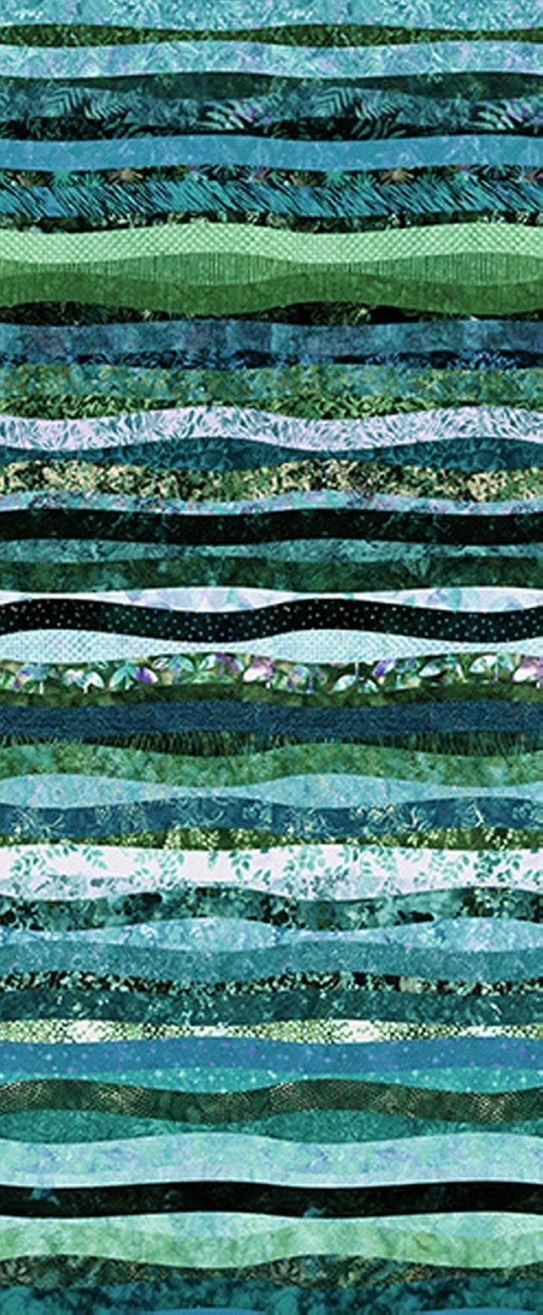 Hoffman Waves Digital Prints Ocean S4832-73