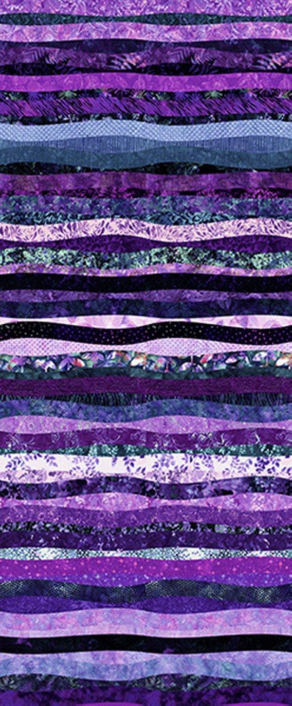 Hoffman Waves Digital Prints Violet S4832-81