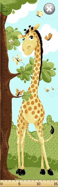 Susy Bee Zoe The Giraffe Growth Chart
