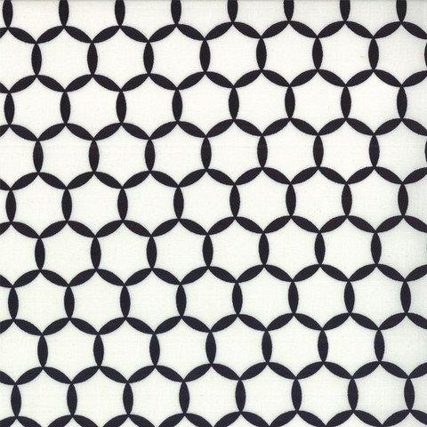 Shades of Black Geometric circles black and white