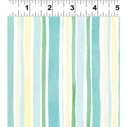 Spring Meadow Turquoise Stripe