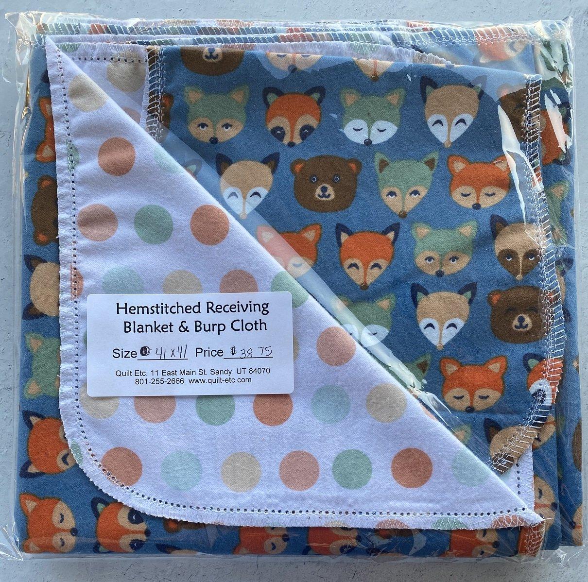 Hemstitched Receiving Blanket & Burp Cloth 10