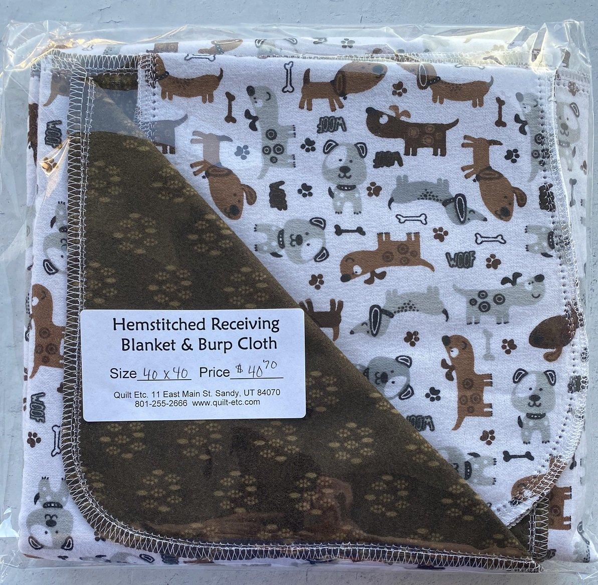 Hemstitched Receiving Blanket & Burp Cloth 11