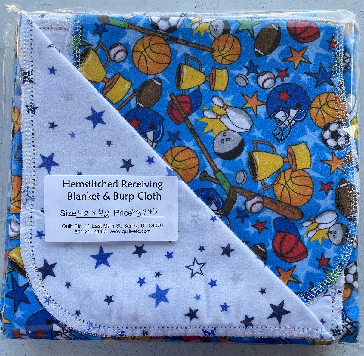 Hemstitched Receiving Blanket & Burp Cloth 17