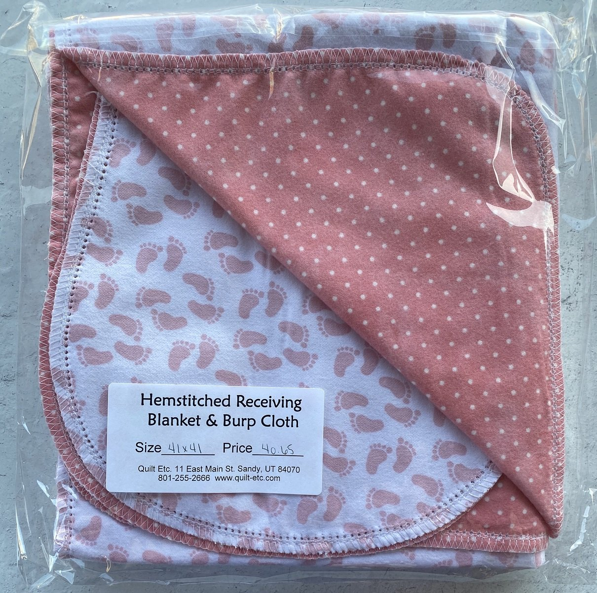 Hemstitched Receiving Blanket & Burp Cloth 19