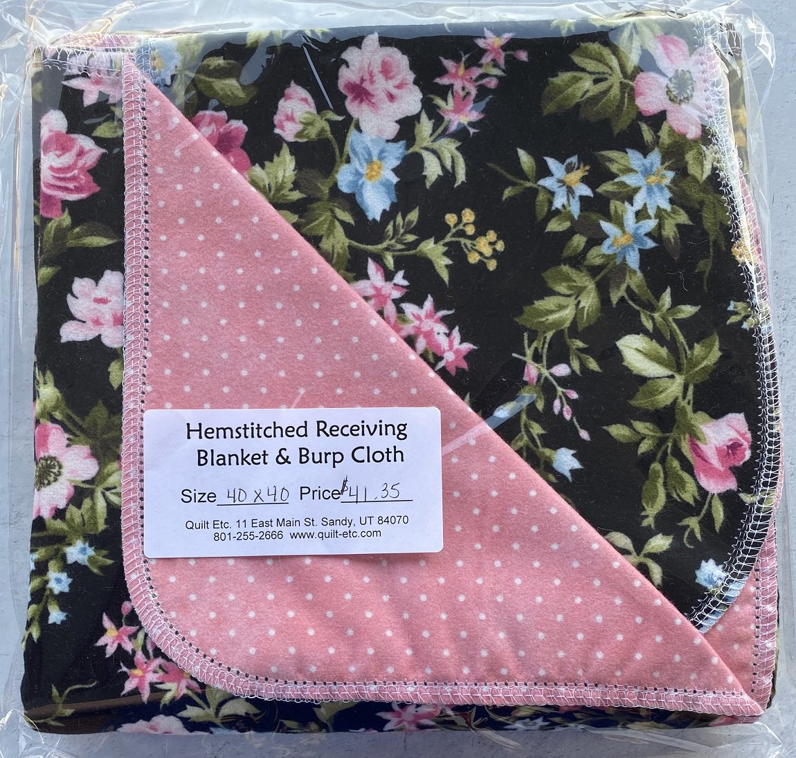 Hemstitched Receiving Blanket & Burp Cloth 21