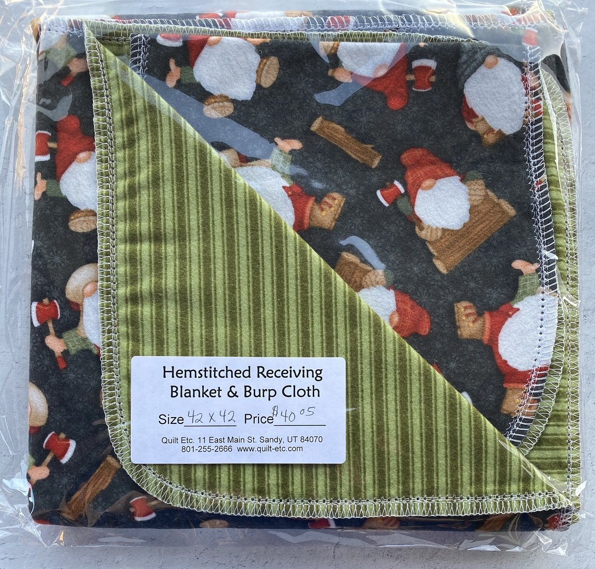 Hemstitched Receiving Blanket & Burp Cloth 22