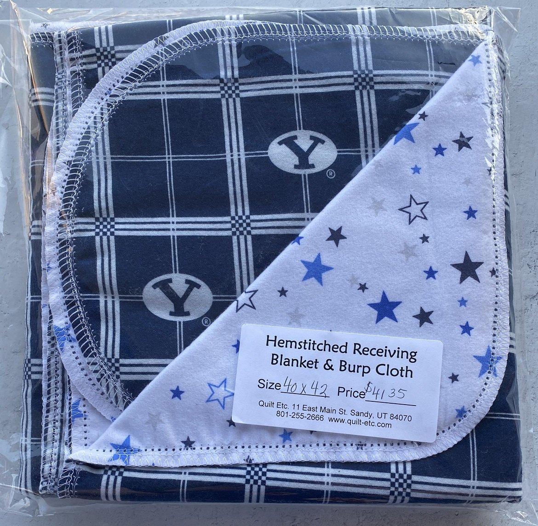 Hemstitched Receiving Blanket & Burp Cloth 23