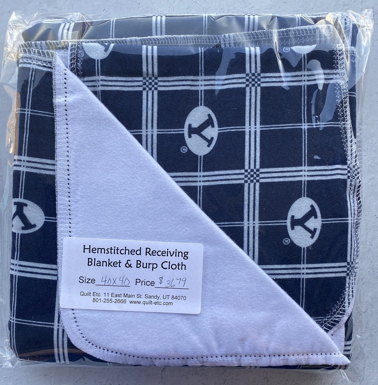 Hemstitched Receiving Blanket & Burp Cloth 28
