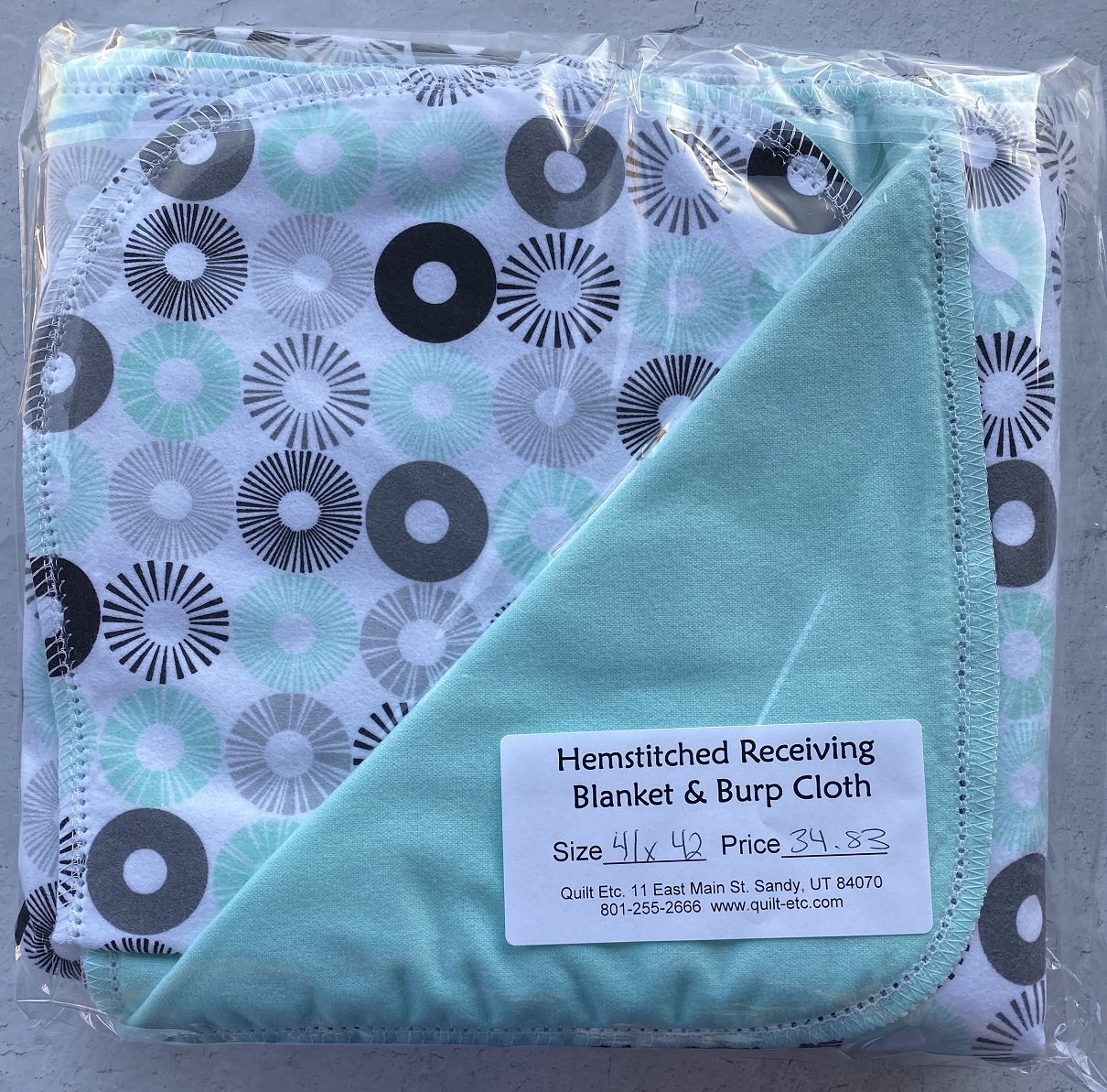 Hemstitched Receiving Blanket & Burp Cloth 29