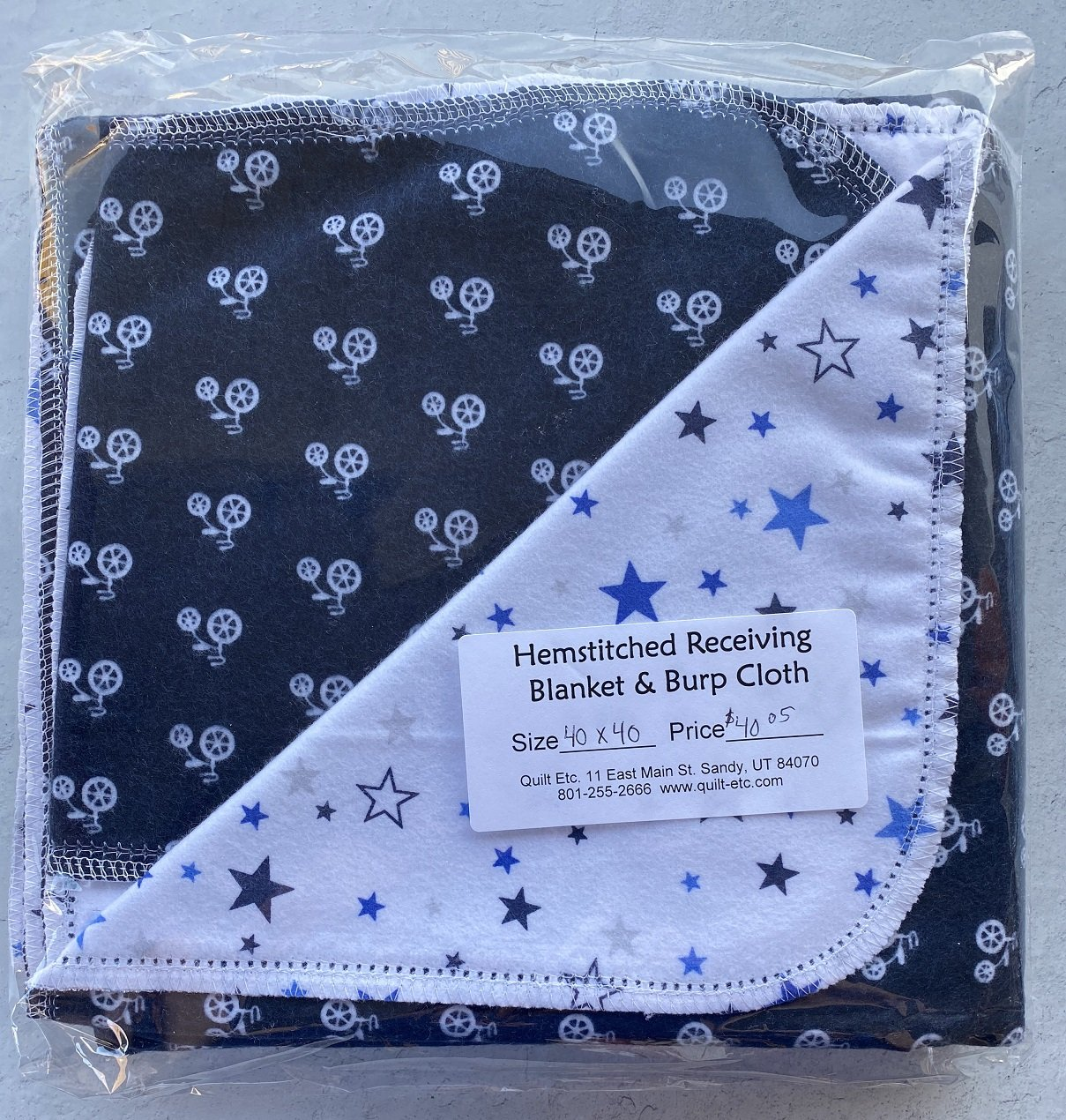 Hemstitched Receiving Blanket & Burp Cloth 4