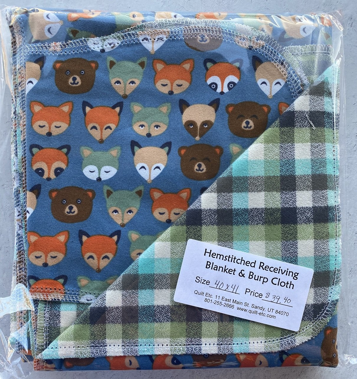 Hemstitched Receiving Blanket & Burp Cloth 5