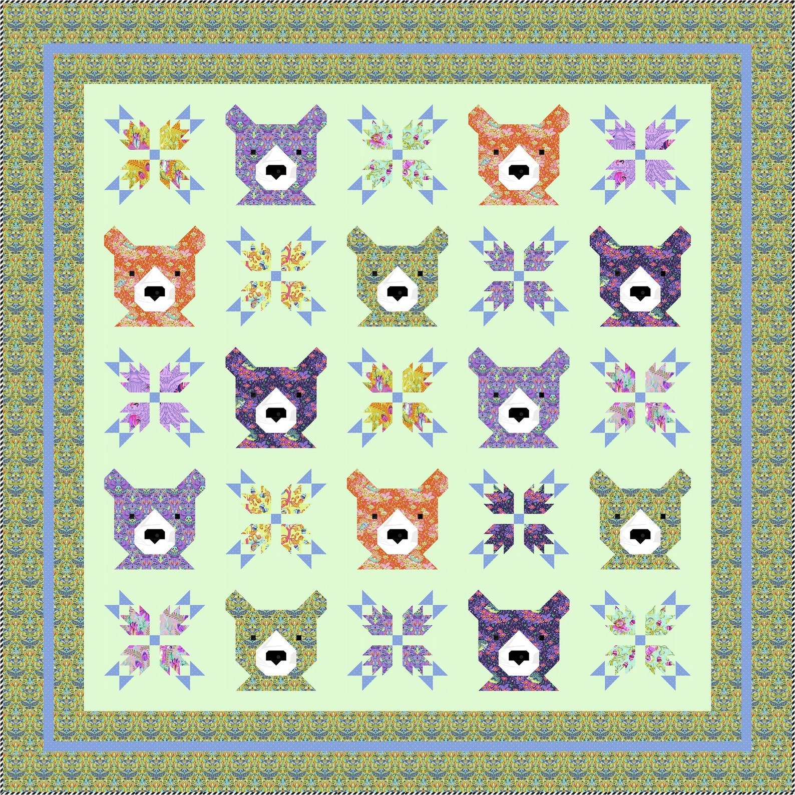 PREORDER Bear & Bear Paws Paper Pattern