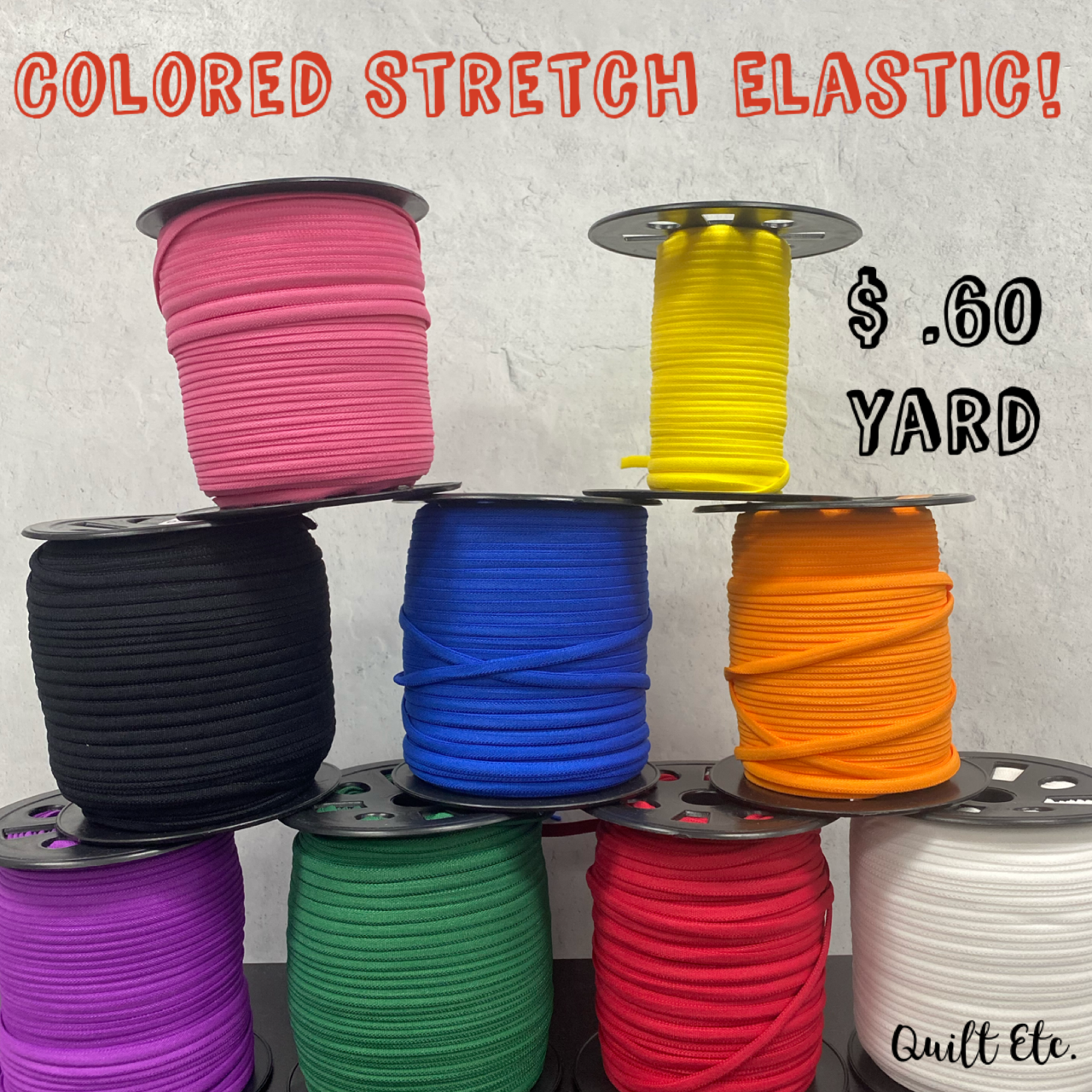 Colored Banded Stretch Elastic 1/6