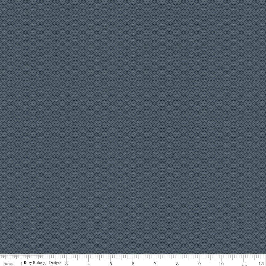 Woolen Flannel Diamond F10642 - Blue