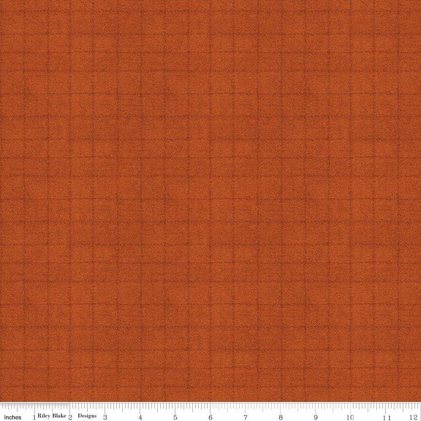 Woolen Flannel Grid F10643 - Orange