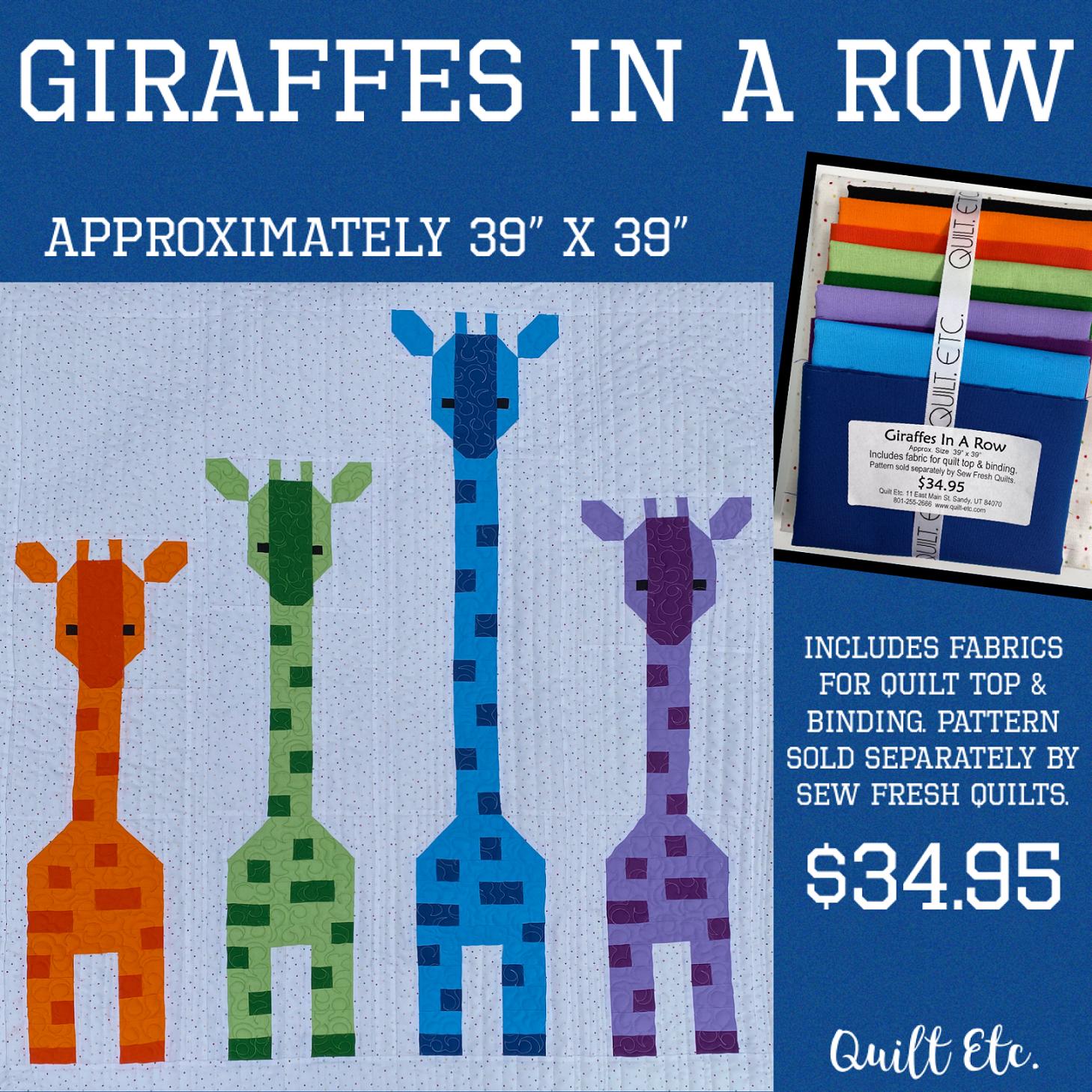 Giraffes In A Row