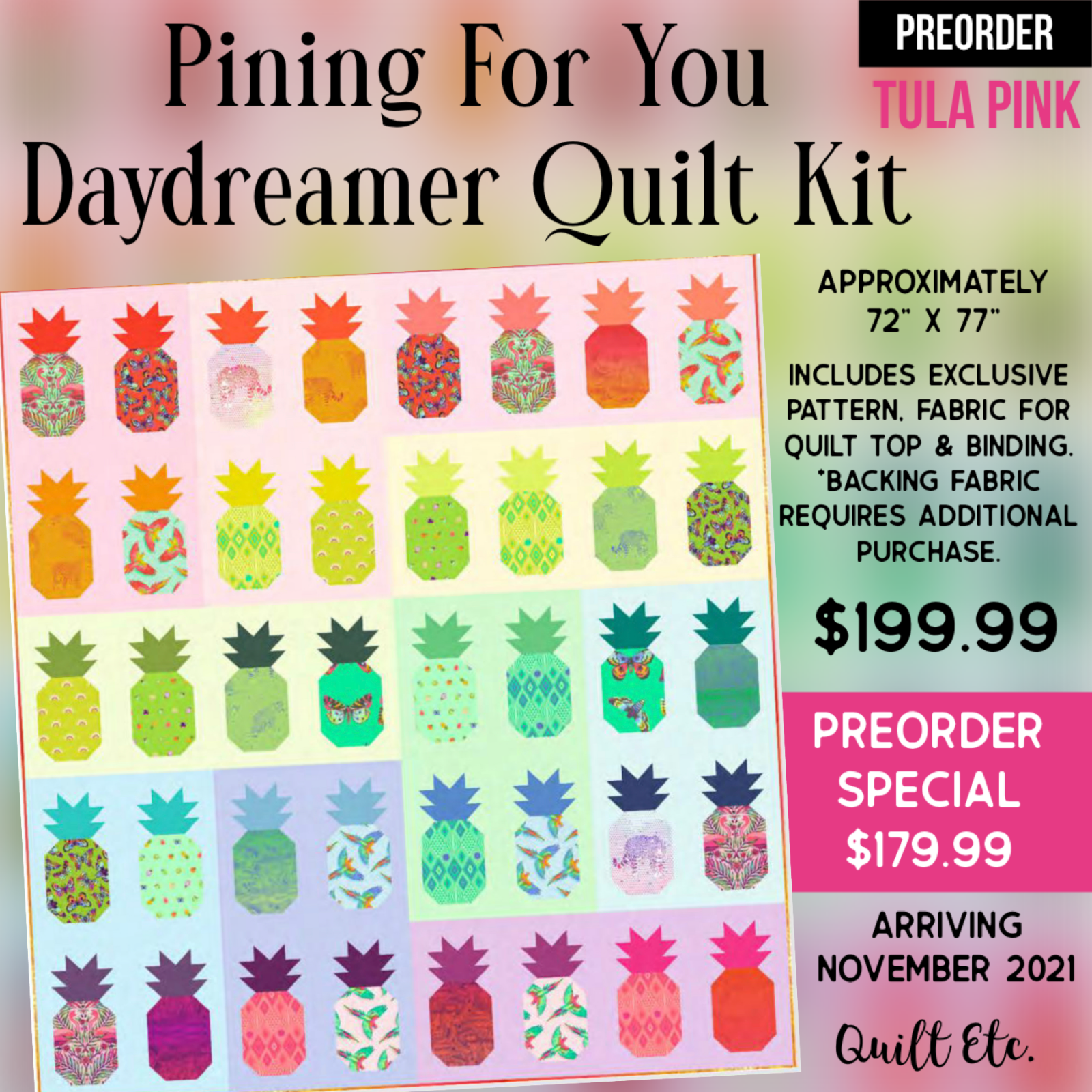 PREORDER Pining For You Daydreamer Quilt Kit