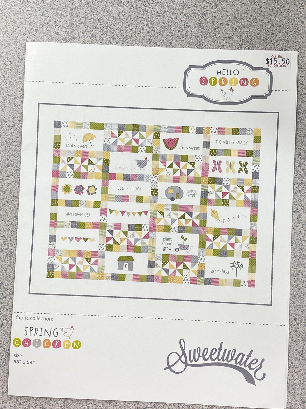 Hello Spring Paper Pattern