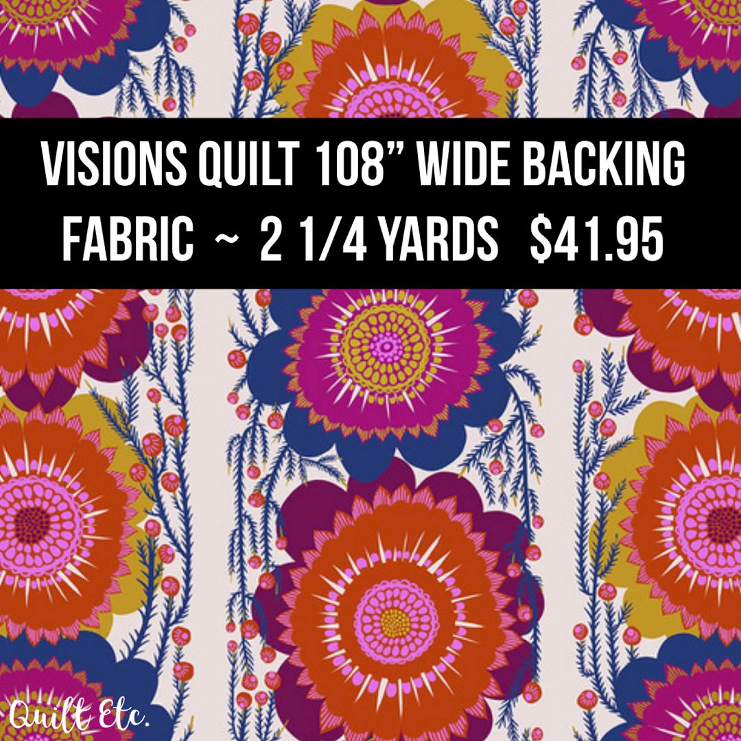 Visions Quilt 108 Wide Backing Fabric