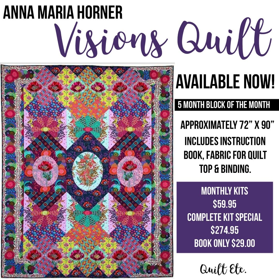 Visions Quilt Club Block Of The Month